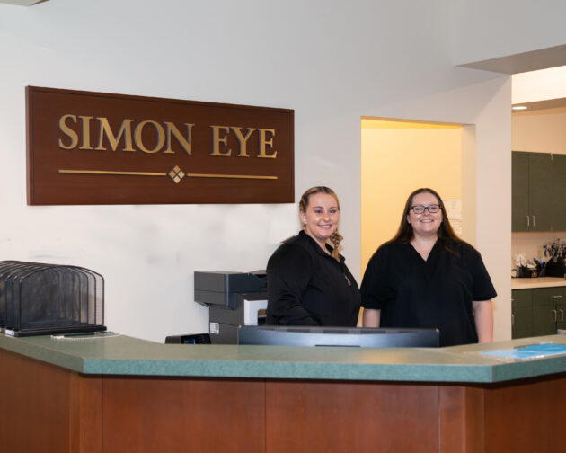 Two staff members of Simon Eye Middletown.