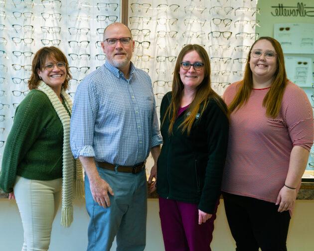 Staff members of Simon Eye Milford.